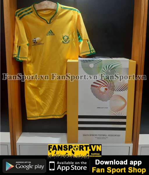 Box South Africa 2010-2011 adidas limited Authentic player issue shirt
