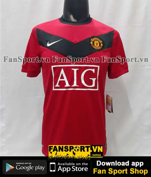 Áo đấu Manchester United 2009-2010 home shirt jersey red BNWT