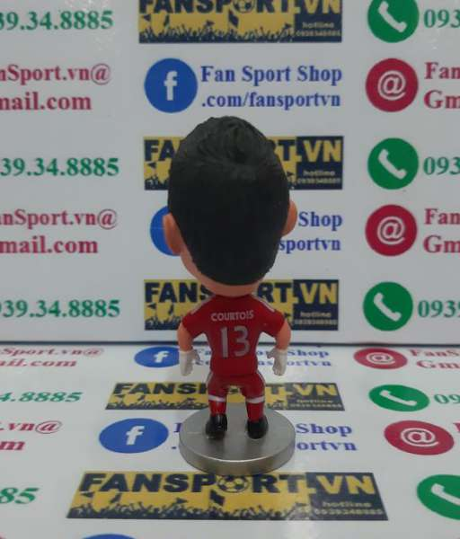 Tượng Thibaut Courtois 13 Chelsea goalkeeper red kodoto figure