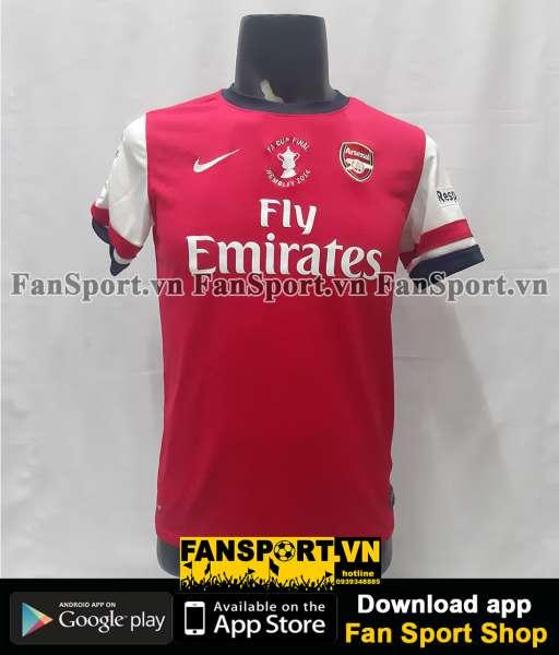 Áo đấu Arsenal FA Cup Final 2014 home shirt jersey red 2012 2013