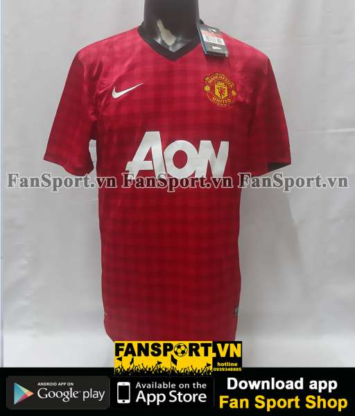 Áo đấu Manchester United 2012-2013 home shirt jersey red BNWT