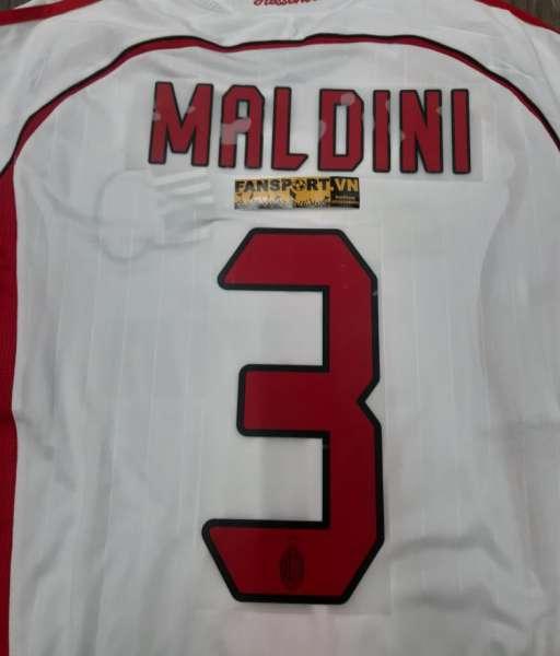 Font Maldini 3 AC Milan Champion League Final 2006-2007 away nameset