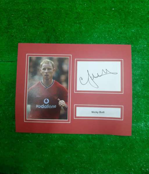 Photo chữ ký Nicky Butt Manchester United signed