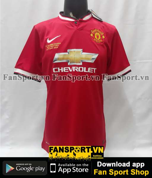 Áo Manchester United Legend Munich Old Trafford 2015 home shirt 2014
