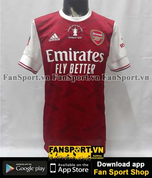 Áo đấu Arsenal FA Cup Final 2020 home shirt jersey 2021 red BNWT
