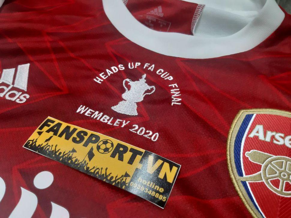 Áo đấu Arsenal FA Cup Final 2020 home shirt jersey 2021 ...