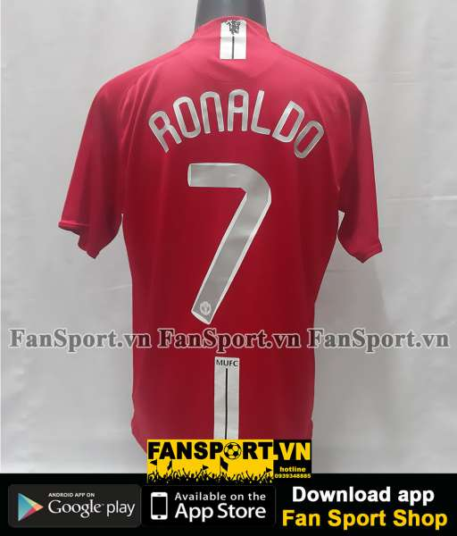 Áo Ronaldo 7 Manchester United Champion League Final 2008 home shirt