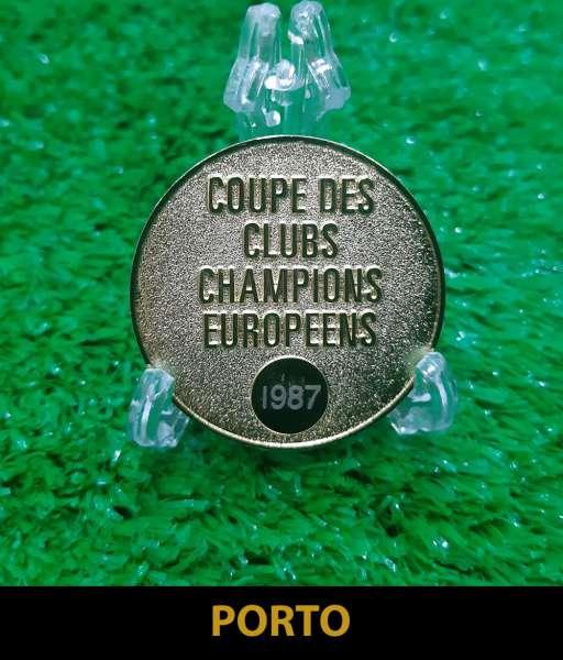 1987 Porto European Cup gold medal final huy chương 1986