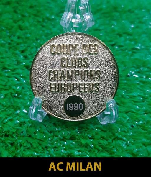 1990 AC Milan European Cup gold medal final huy chương 1989