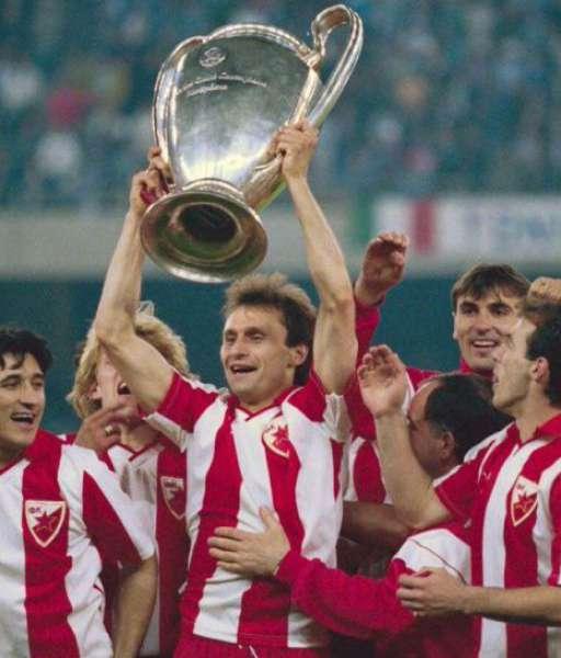 1991 Red Star Belgrade European Cup gold medal final huy chương 1990
