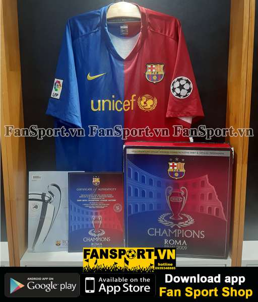 Box shirt Barcelona Champion League Winner 2009 jersey limited 1508