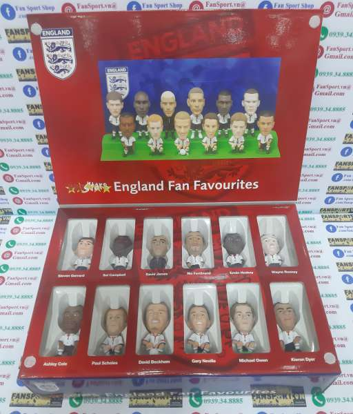 Box England 2003-2004-2005 home Fan Favorite limited figures