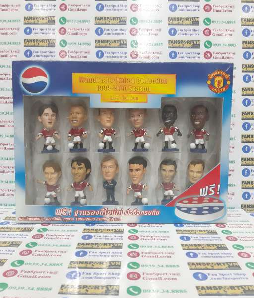 Box Manchester United 1998-1999-2000 home corinthian Pepsi figure set