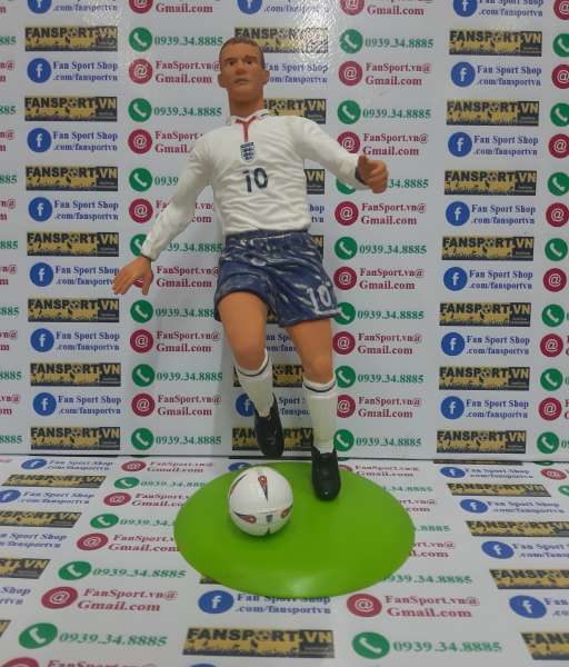 Tượng Wayne Rooney 10 England 2003 2004 2005 home figure 25cm