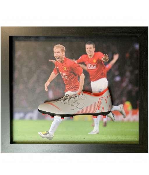 Giày chữ ký Scholes Manchester United shoes sign frame