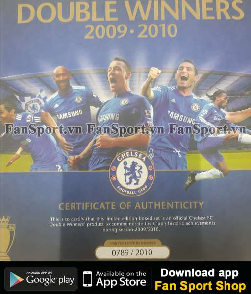 Box Chelsea Double Winner 2009-2020 Premier League FA Cup shirt 0789