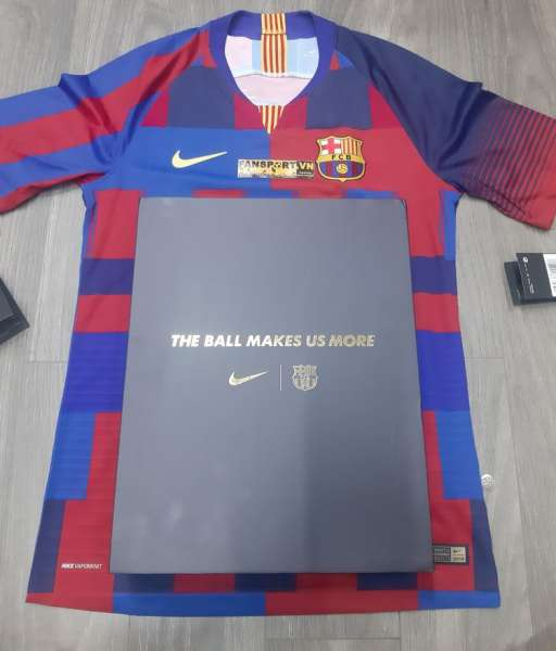 Box Barcelona 20th Anniversary Shirt set mashup Limited Nike Vaporknit