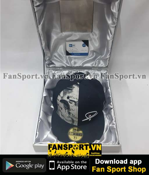 Nón Rio Ferdinand 5 sign New Era Limited Edition COA Box 106/144 cap