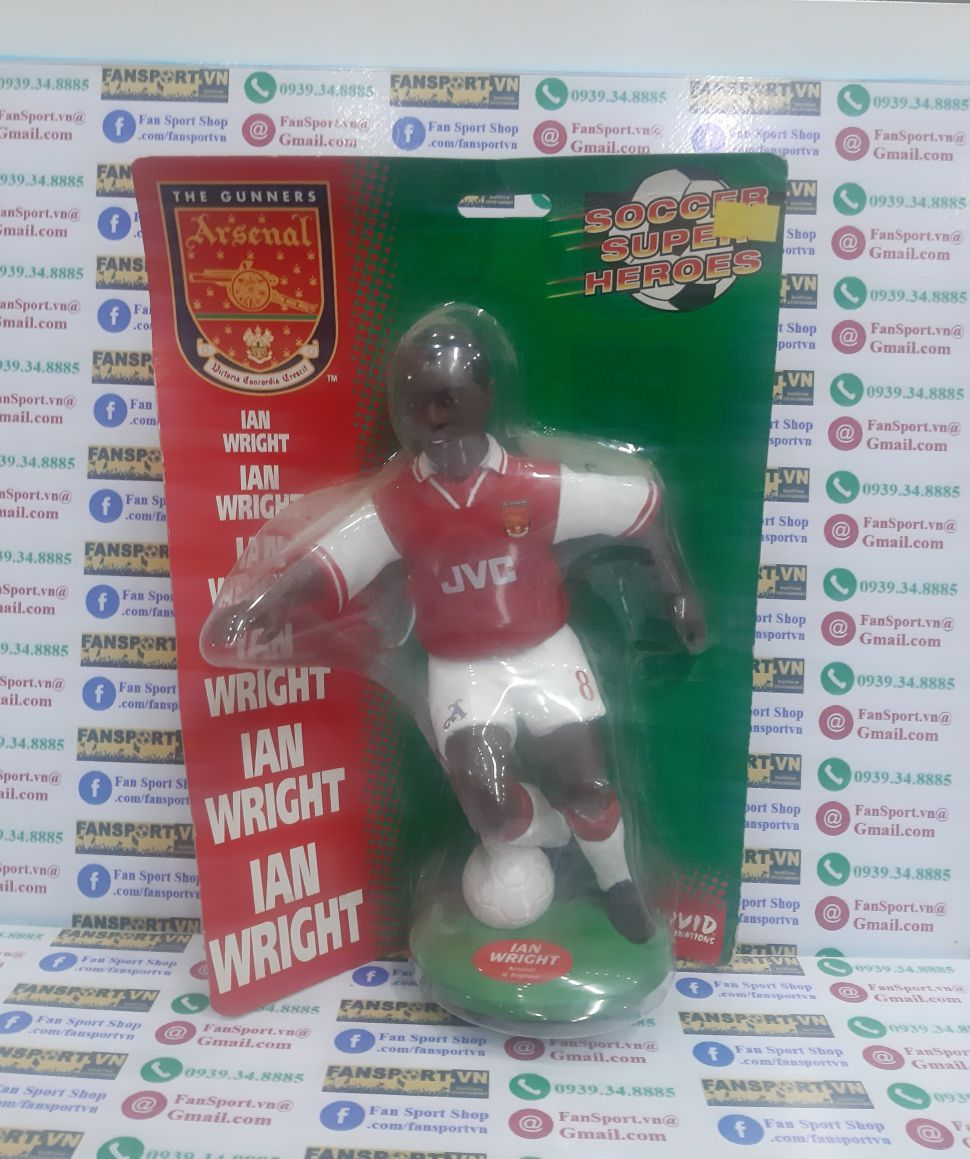 Tượng Ian Wright Arsenal 1996-1997-1998 home Soccer Super Heroes