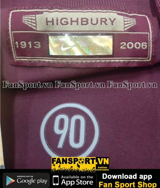 Box Arsenal Highbury Stadium 1913-2006 Nike shirt jersey limited 1557
