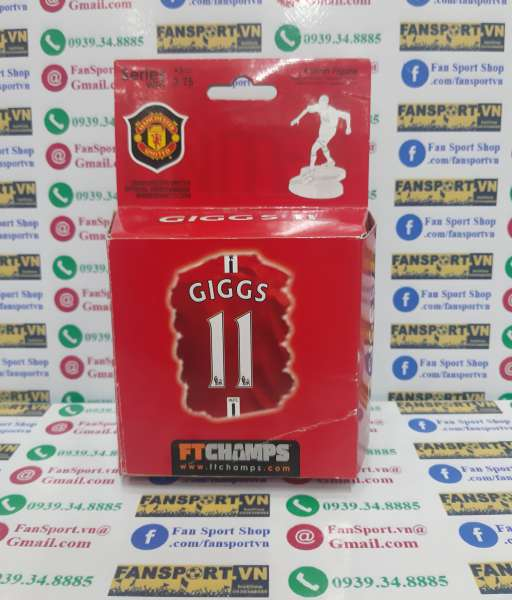 Tượng Giggs 11 Manchester United 2007 2008 2009 figure FT Champs box