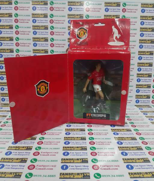 Tượng Ronaldo 7 Manchester United 2007 2008 2009 figure FT Champs box
