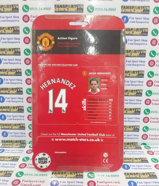 Tượng Chicharito 14 Manchester United 2011 2012 Match Stars figure new