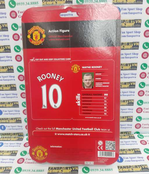 Tượng Rooney 10 Manchester United 2012 2013 home Match Stars figure