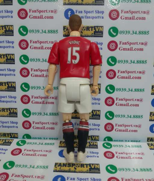 Tượng Vidic 15 Manchester United 2011 2012 home Match Stars figure