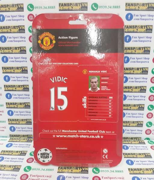 Tượng Vidic 15 Manchester United 2011 2012 Match Stars figure blister