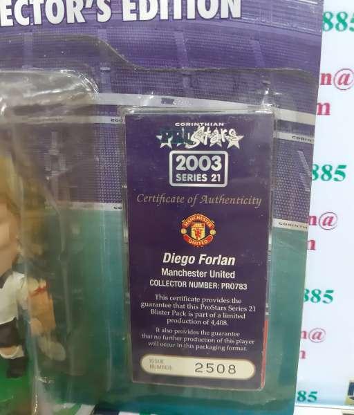 Tượng Forlan 21 Manchester United 2002-2003 corinthian PRO783 blister