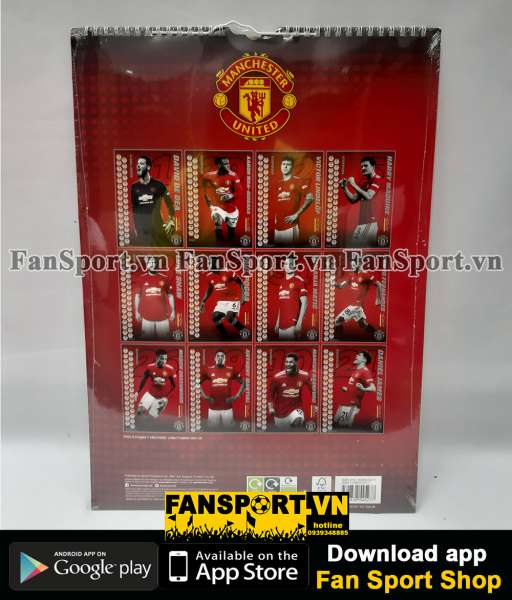 Lịch treo tường Manchester United 2021 calendar wall