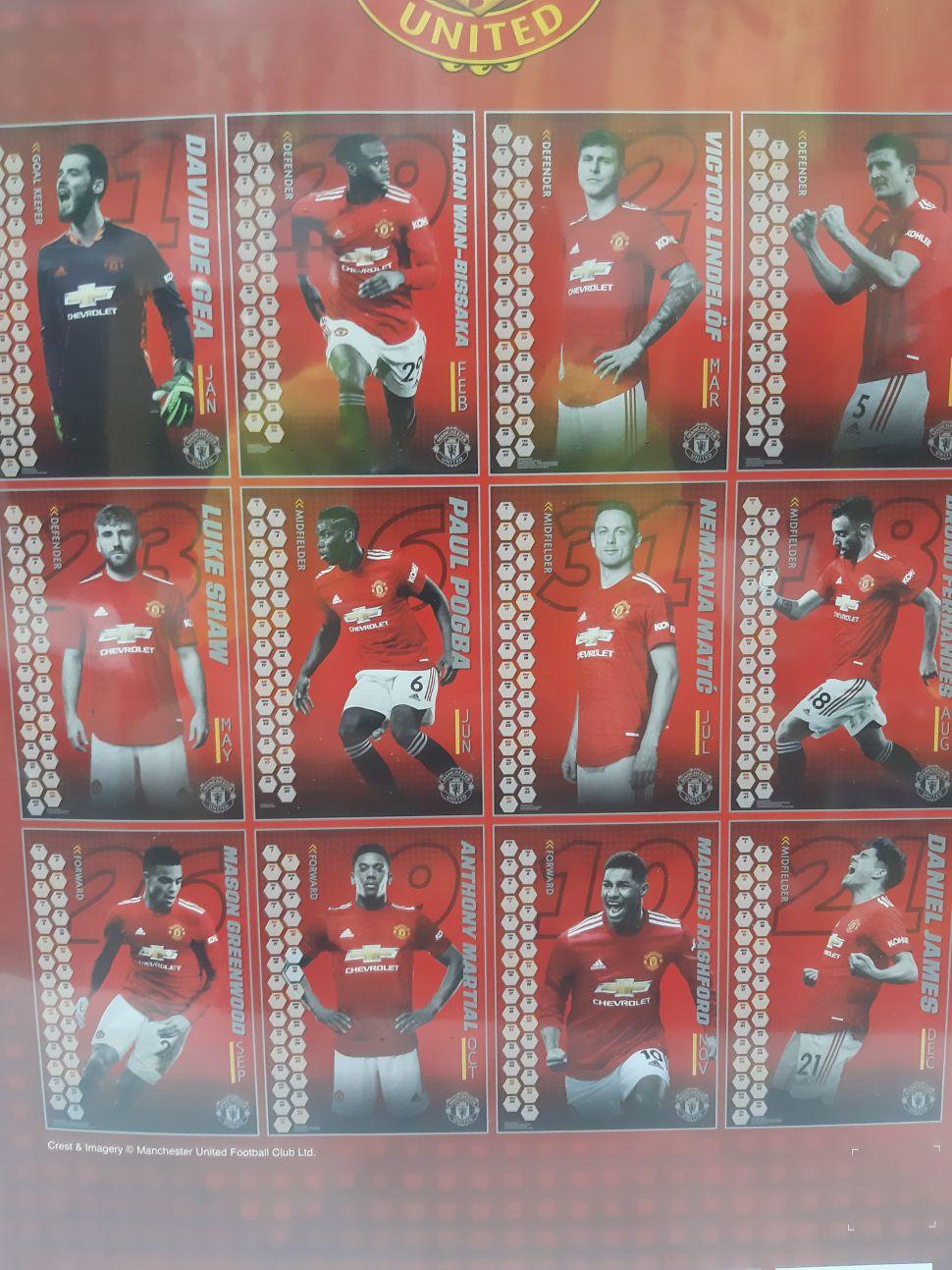 Lịch treo tường Manchester United 2021 calendar wall