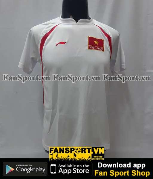 Áo đấu Việt Nam 2007-2008 away trắng shirt Vietnam Li-ning retro