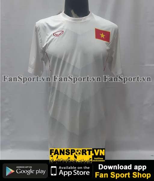 Áo đấu Việt Nam 2016 away trắng Grand Sport fan Vietnam shirt XL