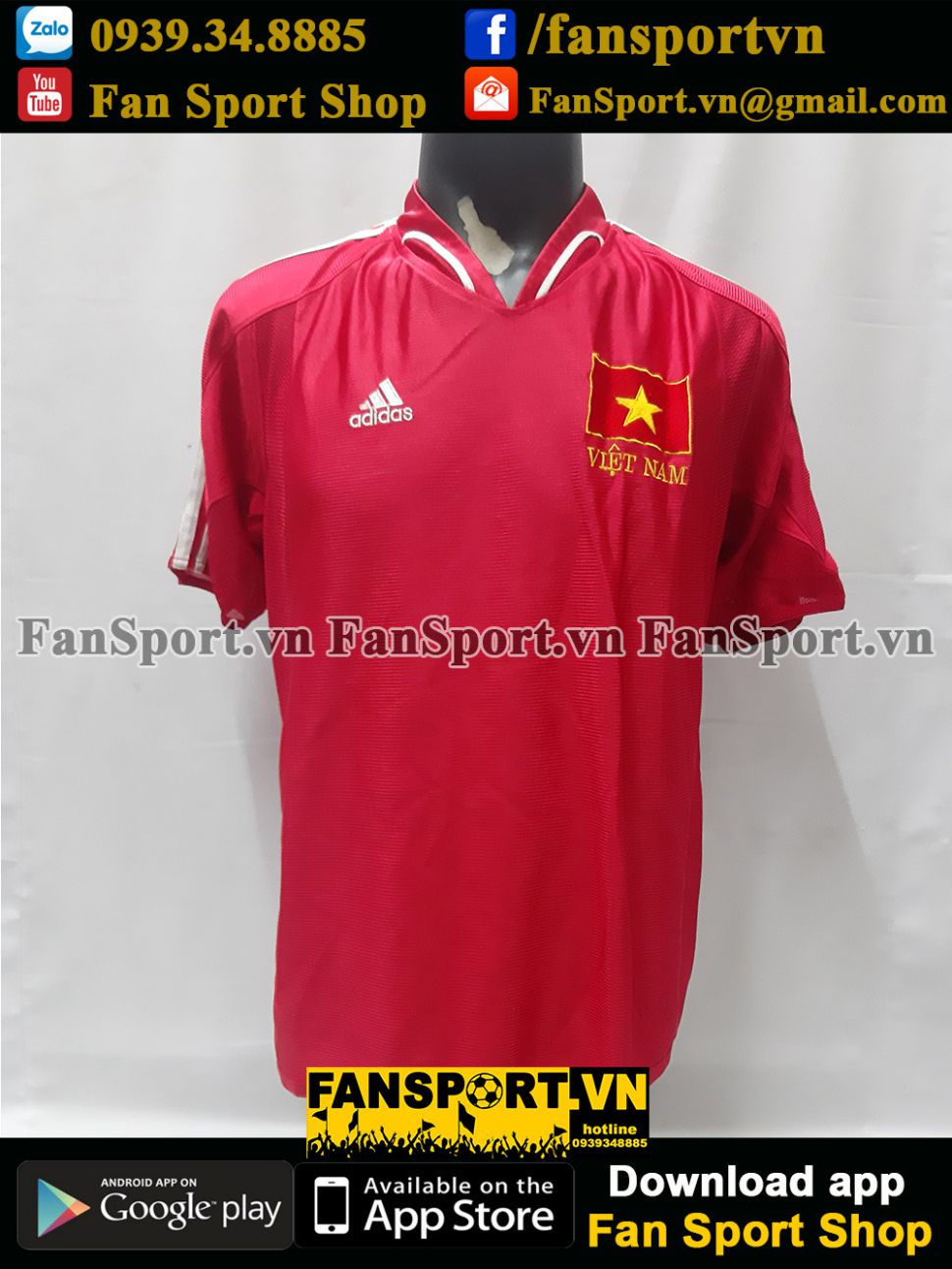 Áo đấu Việt Nam Adidas home đỏ shirt jersey Vietnam