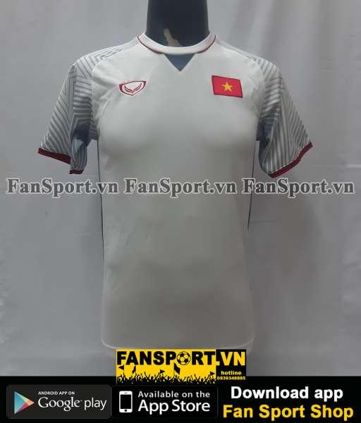 Áo đấu Việt Nam 2018 away trắng Grand Sport shirt jersey Vietnam S