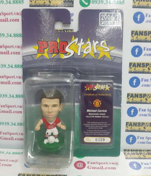 Tượng Carrick 16 Manchester United 2006 2007 home corinthian PRO1523