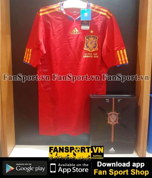 Box 2 áo Spain Adidas Techfit World Cup 2010 retro 1982 limited set