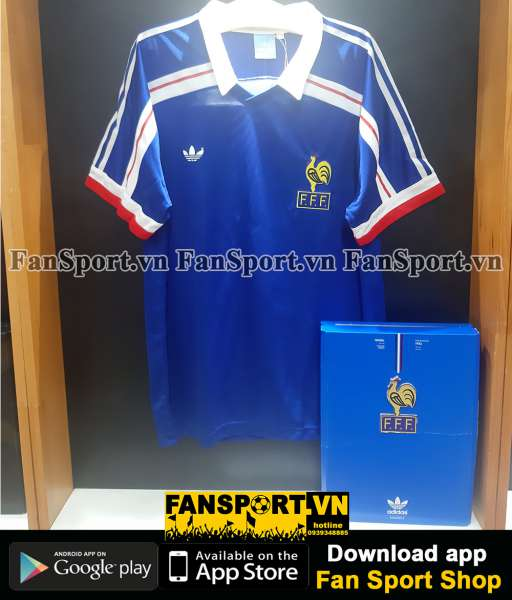 Box 2 áo France Adidas Techfit World Cup 2009-2011 retro 1986 limited