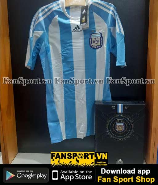 Box 2 áo Argentina Adidas Techfit World Cup 2010-2011 retro 1978 shirt