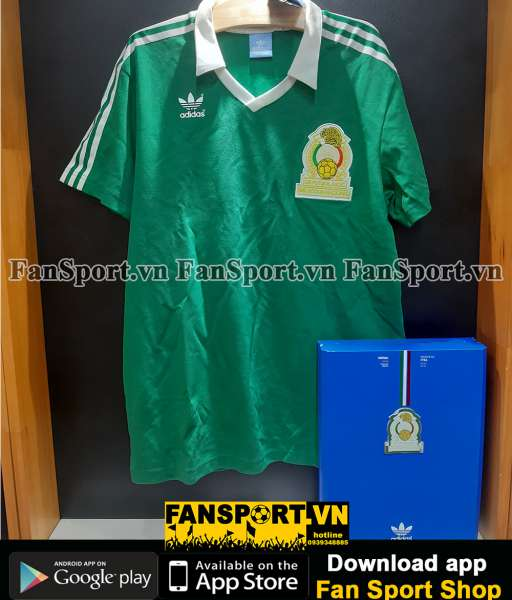 Box 2 áo Mexico Adidas Techfit World Cup 2010-2011 retro 1986 limited