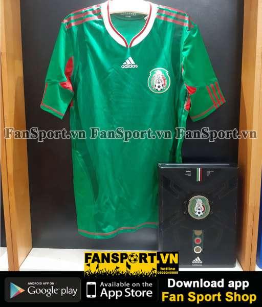Box 2 áo Mexico Adidas Techfit World Cup 2010-2011 retro 1986 limited