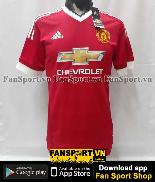 Áo Rooney #10 Manchester United 2015-2016 home shirt jersey adizero