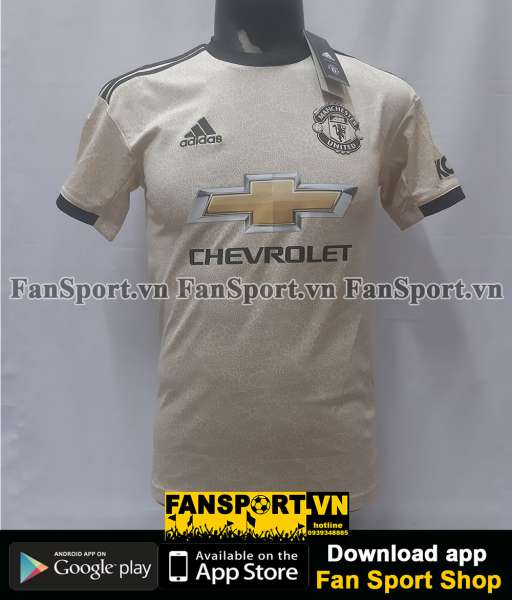 Áo đấu Manchester United 2019-2020 away shirt jersey yellow brown BNWT