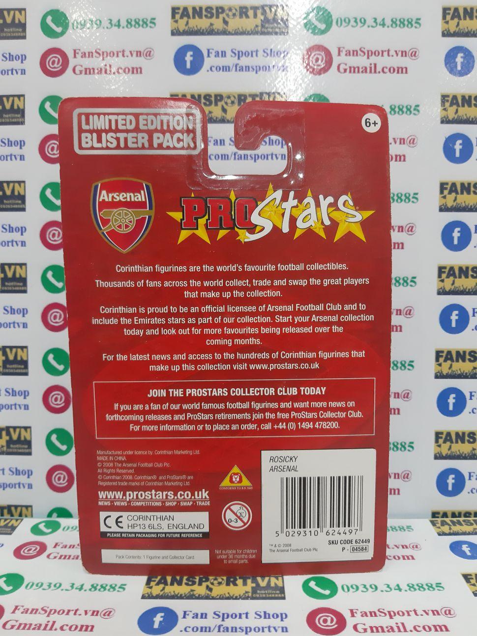 Tượng Rosicky Arsenal 2008-2009-2010 home corinthian blister PRO1809