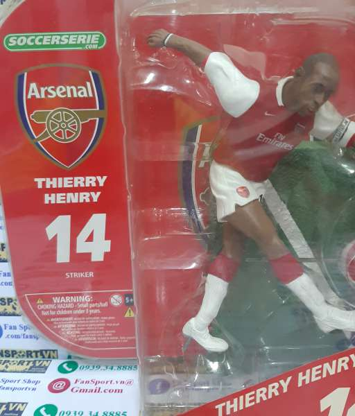Tượng Thierry Henry 14 Arsenal 2006-2007-2008 home soccerserie blister