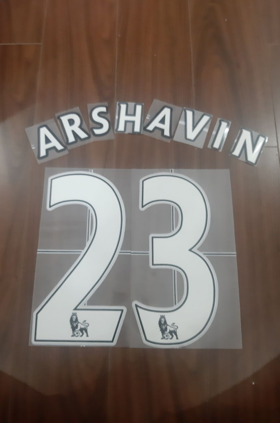 Font Arshavin 23 Arsenal Premier League 2007-2013 home white nameset
