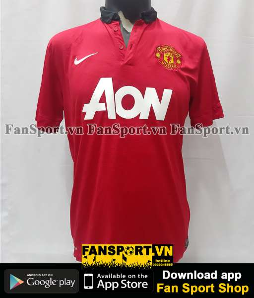 Áo đấu Manchester United 2013-2014 home shirt jersey red