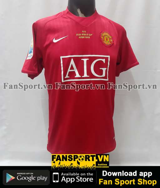 Áo Manchester United FIFA Club World Cup 2008 home shirt jersey 2009